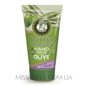Оливковый крем для рук с протеинами шелка фото