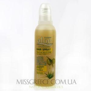 Греческий спрей для волос с протеинами шелка и алоэ вера картинка