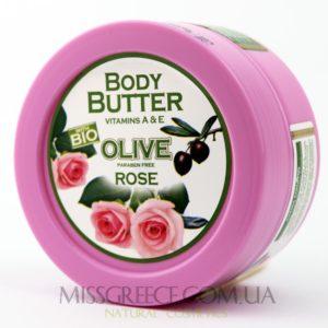 Фото крем-масло для тела с экстрактом листьев оливы и розы