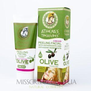 крем-пилинг для лица с оливковой косточкой